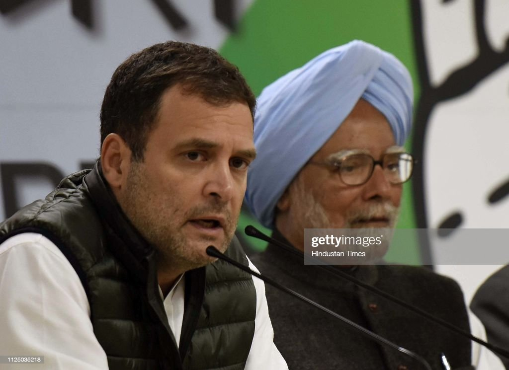 IND: Congress President Rahul Gandhi Addresses Media Personnel Over Pulwama Terror Attack