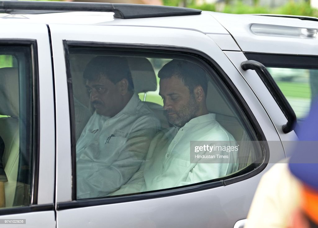 Congress President Rahul Gandhi leaves after interacting with media at MCA, Bandra Kurla Complex, Bandra (E), on June 13, 2018 in Mumbai, India. Gandhi said that the Modi government is only working for rich businessmen, and the extra money collected from fuel hike is being used to give bailout packages to them.