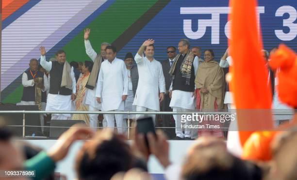 Congress President Rahul Gandhi Madhya Pradesh chief minister Kamal Nath Singh Rajasthan chief minister Ashok Gehlot Tejashwi Prasad Yadav Loktantrik...