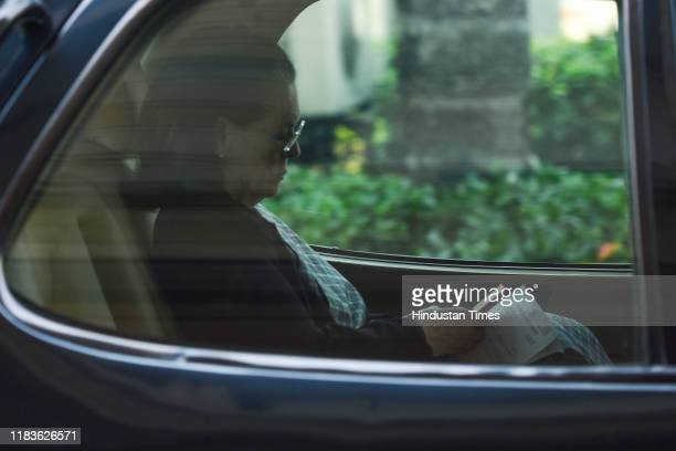 Congress president Sonia Gandhi leaves after attending the winter session of Parliament on November 20 2019 in New Delhi India The Rajya Sabha...