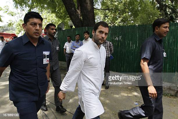 Congress Vice President Rahul Gandhi arrives to consoles family of Sarabjit Singh an Indian prisoner in Pakistan who died in Pakistan hospital after...