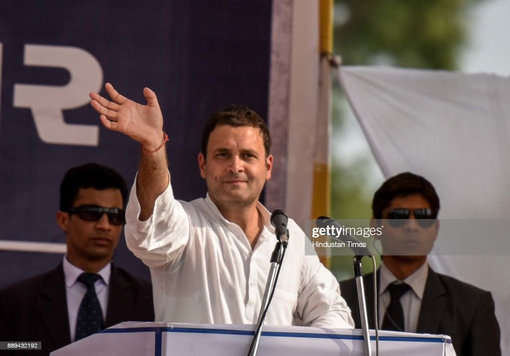 Congress Vice President Rahul Gandhi Addresses An Election Campaign Rally In Ahmedabad