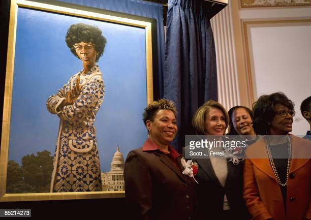 Congressional Black Caucus Chairwoman Barbara Lee DCalif House Speaker Nancy Pelosi DCalif Rep Donna Edwards DMdand Rep Maxine Waters DCalif stand in...