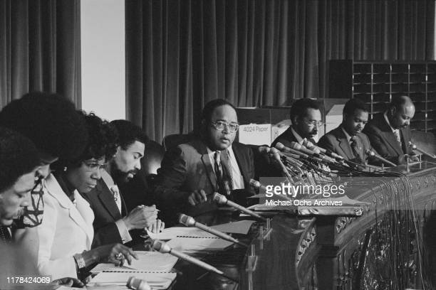 Congressional Black Caucus [Rep Shirley Chisholm Rep William L Clay Rep Charles C Diggs Jr Rep Parren J Mitchell Rep Walter Fauntroy and Rep Louis...