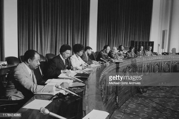 Congressional Black Caucus Representatives George W Collins Ronald V Dellums Shirley Chisholm William L Clay Charles C Diggs Jr Augustus F Hawkins...