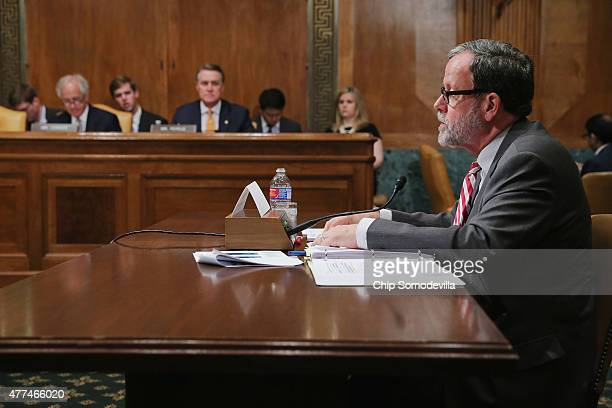 Congressional Budget Office Director Keith Hall testifies before the Senate Budget Committee in the Dirksen Senate Office Building on Capitol Hill...