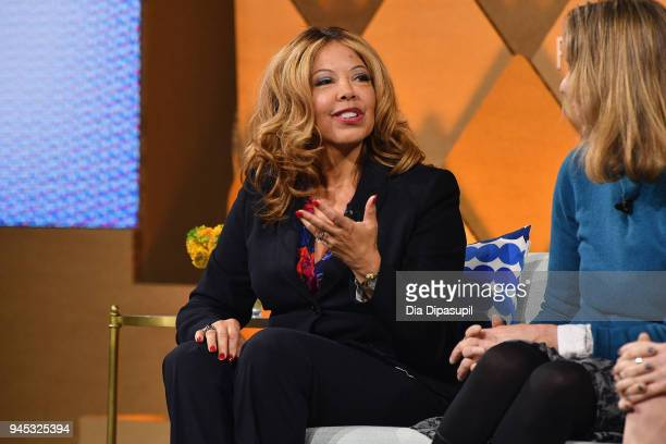 Congressional candidate in Georgia's 6th District Lucy McBath speaks onstage during Vanity Fair's Founders Fair at Spring Studios on April 12 2018 in...