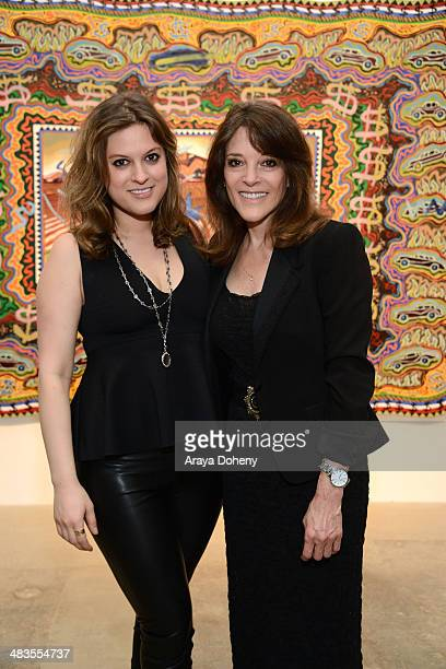 Congressional Candidate Marianne Williamson and her daughter India Williamson attends the Congressional candidate Marianne Williamson press event on...