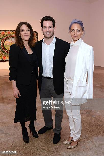 Congressional Candidate Marianne Williamson Hayden Slater and Nicole Richie attend the Congressional candidate Marianne Williamson press event on...