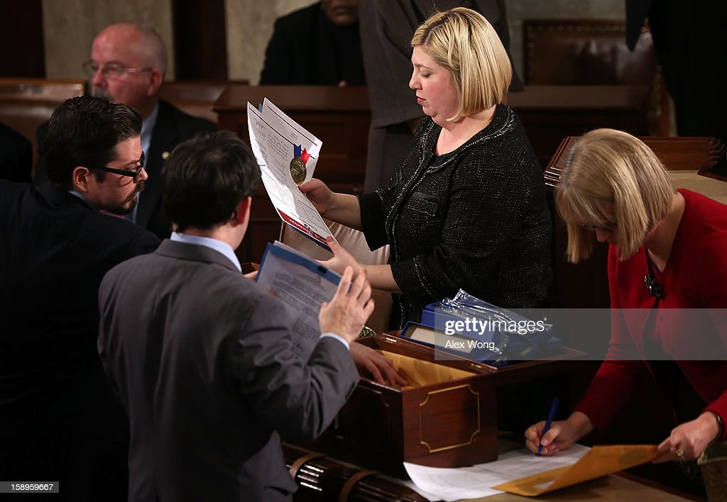 Joint Session Of Congress Counts Electoral College Votes In 2012 Pres. Election : News Photo