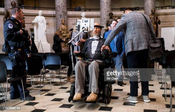 Congressional Gold Medal Award Ceremony honoree NFL player Steve Gleason gets a preview of Statuary Hall before the ceremony in his honor in the...