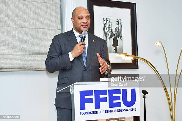Congressman Andre Carson attends launch of the Foundation For Ethnic Understanding's Muslims Are Speaking out campaign at LA Reid Private Residence...