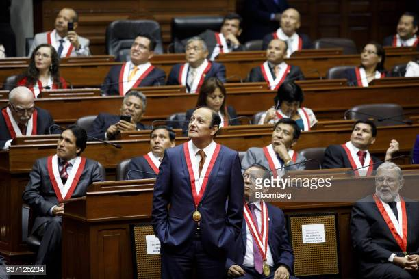 Congressman attend the swearing in ceremony for Martin Vizcarra Peru's president not pictured in Lima Peru on Friday March 23 2018 Vizcarra assumed...