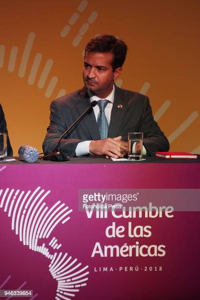 Congressman Carlos Curbelo giving a press conference in the framework of the VIII Summit of the Americas The event takes place on April 13rd and 14th...