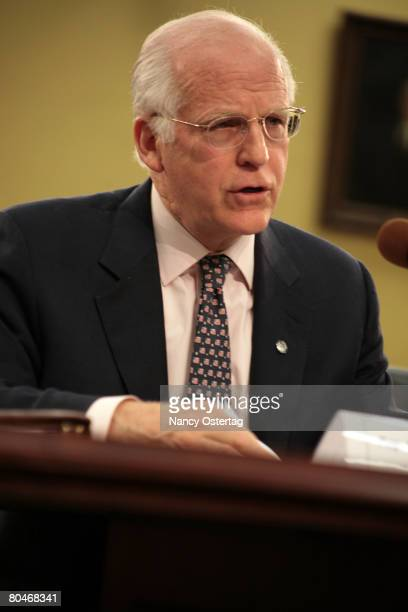 Congressman Christopher Shays testifies before the House Appropriations Committee Hearing On Funding For The Arts on April 1 2008 in Washington DC