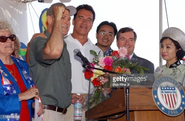 Congressman Dana Rohrabacher and Arnold Schwarzenegger