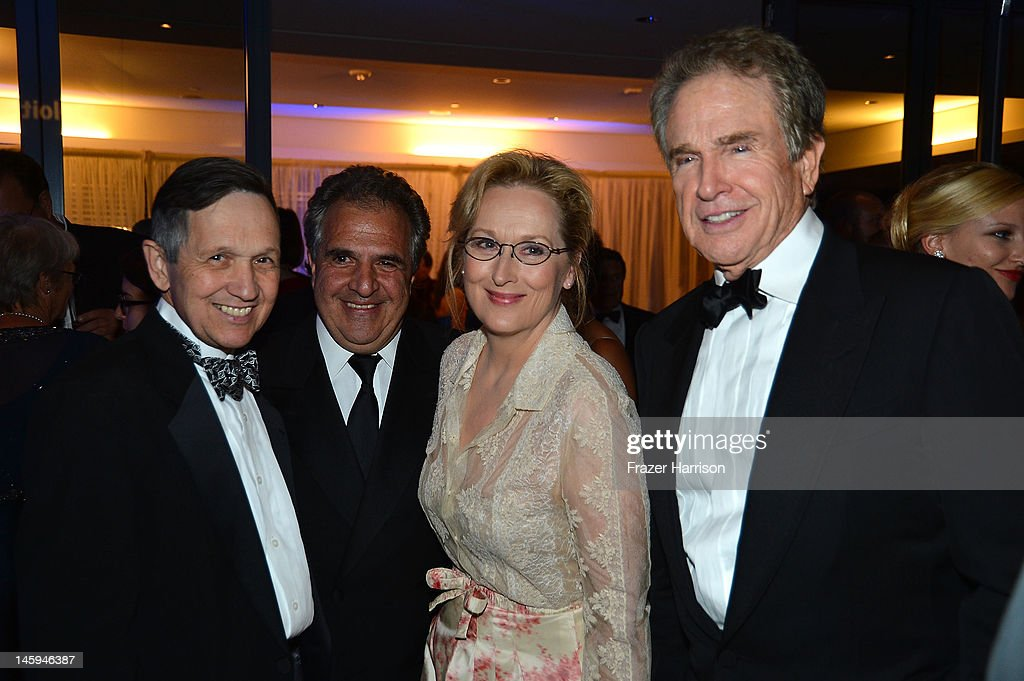 Congressman Dennis Kucinich, Co-Chairman and CEO, Fox Filmed Entertainment,Jim Gianopulos and actors Meryl Streep and Warren Beatty attend the after party for the 40th AFI Life Achievement Award honoring Shirley MacLaine held at Sony Pictures Studios on June 7, 2012 in Culver City, California. The AFI Life Achievement Award tribute to Shirley MacLaine will premiere on TV Land on Saturday, June 24 at 9PM
