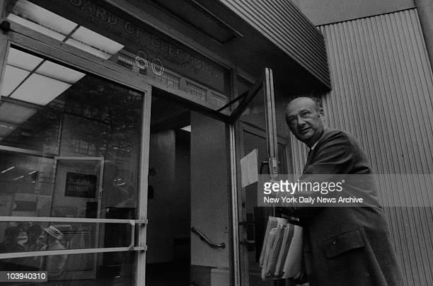 Congressman Ed Koch campaigning for Mayor July 7th 1977