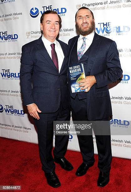 Congressman Ed Royce and Rabbi Shmuley Boteach attend the 4th Annual Champions Of Jewish Values International Awards Gala at Marriott Marquis...