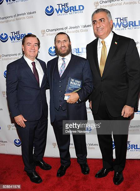 Congressman Ed Royce, Rabbi Shmuley Boteach and the Crown Prince of Iran, Reza Pahlavi attend the 4th Annual Champions Of Jewish Values International...