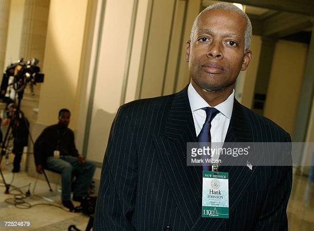 Congressman elect Hank Johnson poses for a picture during a break in his orientation class on Capitol Hill November 13, 2006 in Washington DC. The...