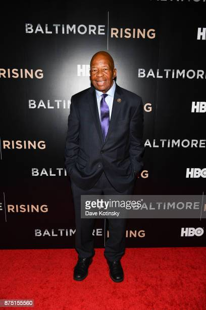 Congressman Elijah Cummings arrives at the Red Carpet Premiere of HBO Documentary Baltimore Rising on November 16 2017 in Baltimore Maryland