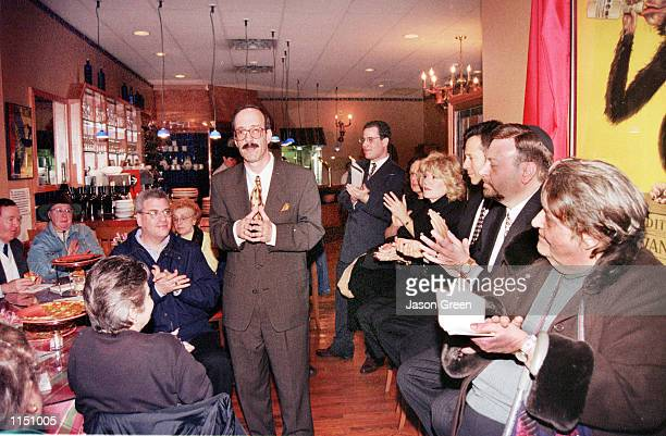 Congressman Eliot Engel addresses an enthusiastic crowd at The Bellavista Cafe in Riverdale during an Antiimpeachment rally The Bronx United...