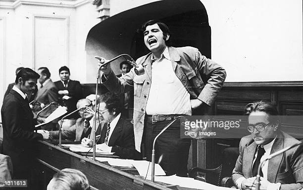 Congressman for the APRA Alan Garcia center speaks during a session of congress in an undated photo Peruvian Presidential candidate Garcia who is...
