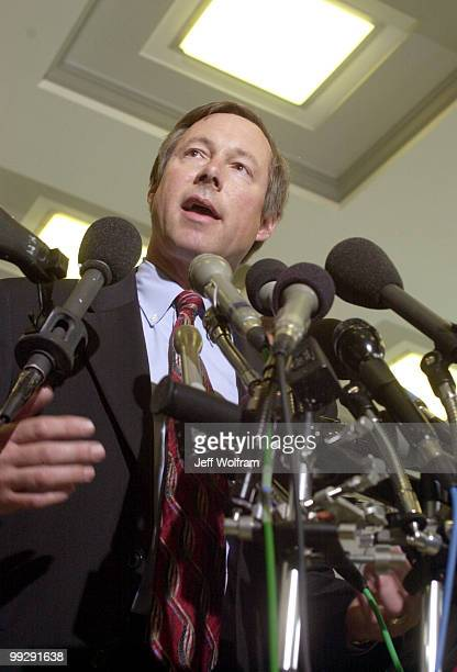 Congressman Fred Upton R6MI addresses the press after a meeting with Ford's CEO Jacques Nasser