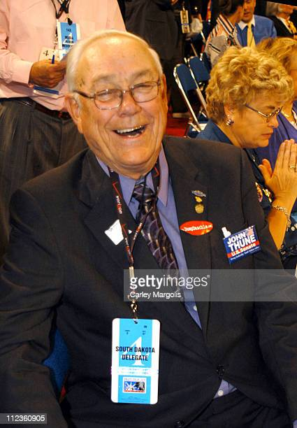 Congressman Gordon R Pederson during 2004 Republican National Convention Day 3 Inside at Madison Square Garden in New York City New York United States