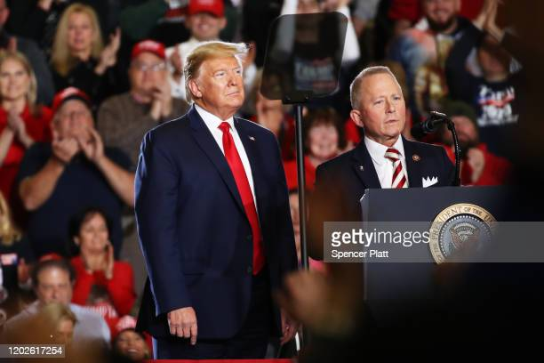 """S Congressman Jeff Van Drew joins President Donald Trump at an evening """"Keep America Great Rally"""" at the Wildwood Convention Center on January 28..."""
