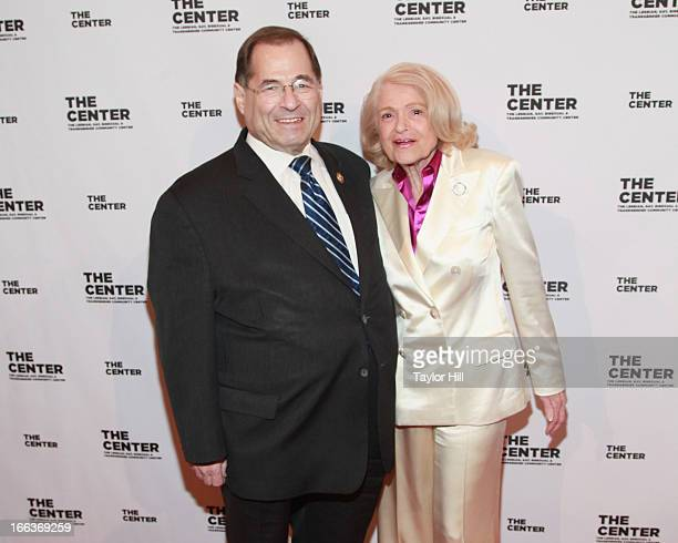 Congressman Jerrold Nadler and Edie Windsor attend the Center Dinner Annual Gala Honoring Edie Winsor at Cipriani Wall Street on April 11 2013 in New...
