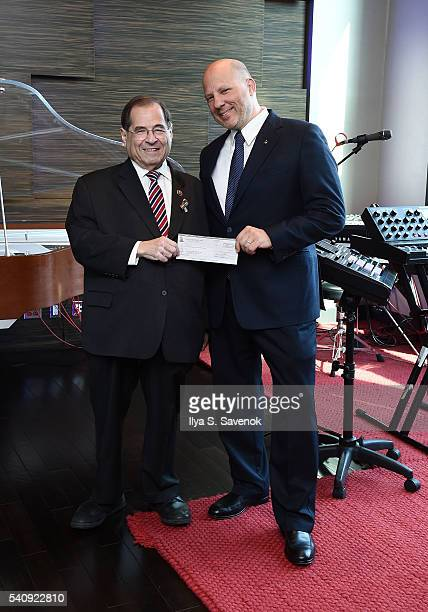 Congressman Jerrold Nadler and John Poppo pose at Jungle City Studios on June 17 2016 in New York City