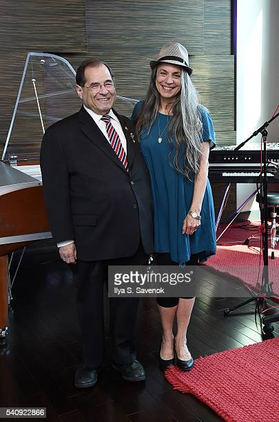 Congressman Jerrold Nadler and Judy Tint pose at Jungle City Studios on June 17 2016 in New York City