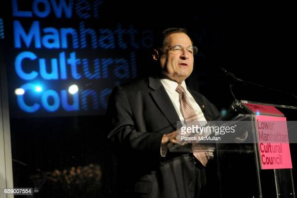 Congressman Jerry Nadler attends LOWER MANHATTAN CULTURAL COUNCIL 2009 Downtown Dinner Gala at 7 World Trade Center on April 20 2009 in New York City