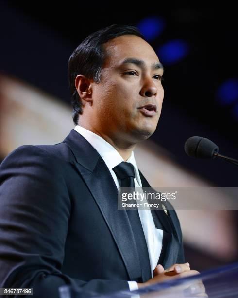 Congressman Joaquin Castro head of the Congressional Hispanic Caucus Institute addresses the 40th Anniversary Congressional Hispanic Caucus Institute...