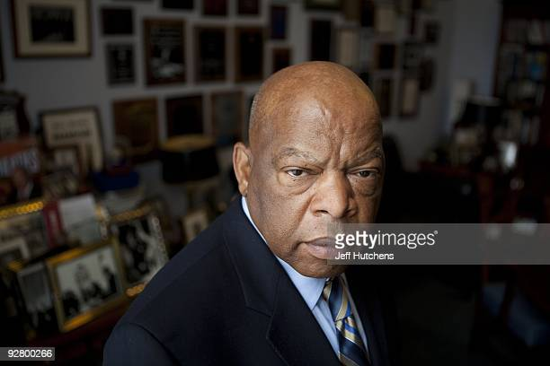 Congressman John Lewis in his offices in the Canon House office building on March 17, 2009 in Washington, D.C. The former Big Six leader of the civil...