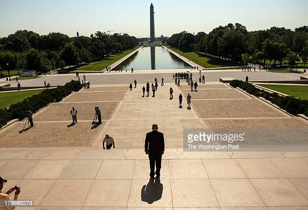 S Congressman John Lewis is photographed at the Lincoln Memorial in Washington DC on Friday June 21 2013 Lewis was the youngest speaker at the March...