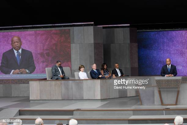 Congressman John Lewis speaks at the opening of the National Museum of African American History and Culture Washington DC September 24 2016 Listening...