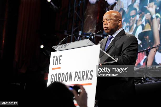 Congressman John Lewis speaks onstage during the Gordon Parks Foundation Awards Dinner Auction at Cipriani 42nd Street on June 6 2017 in New York City