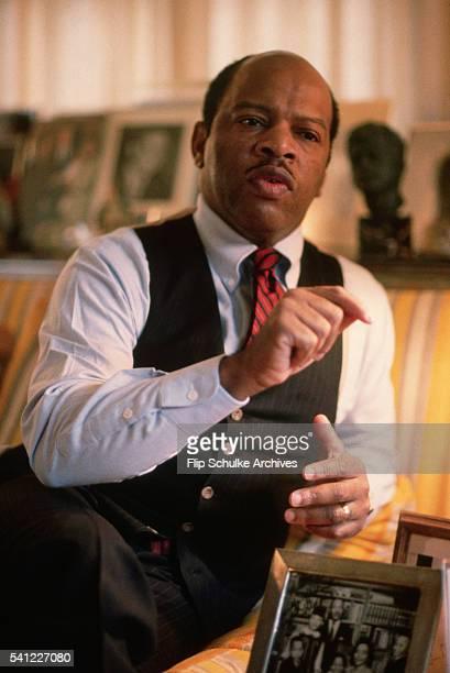 Congressman John Lewis the former president of SNCC speaks at home in Atlanta