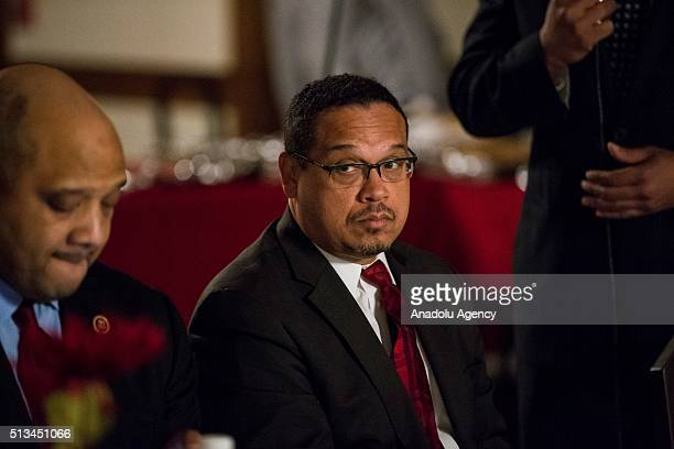 Congressman Keith Ellison during a Dining and Discussion event at the Diyanet Center of America Fellowship Hall in Washington USA on March 2 2016...
