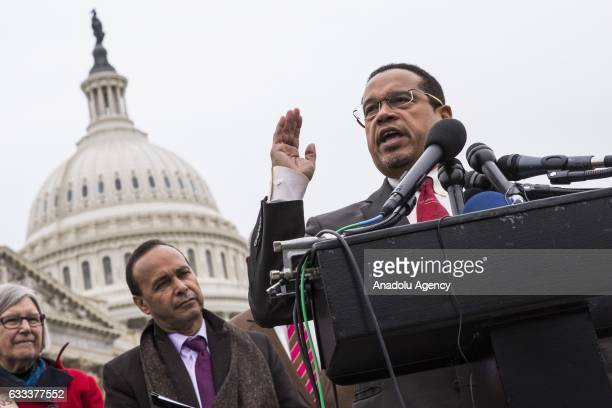 Congressman Keith Ellison the first Muslim elected to the the US Congress speaks out against President Trump and his Executive Order banning travel...