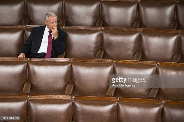 Congressman Ken Buck waits in the House Chambers for a joint session of Congress to begin where all the Electoral College votes from the States will...