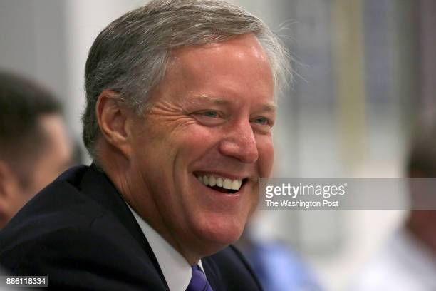 Congressman Mark Meadows leads a roundtable discussion with some of his district's firefighters and law enforcement officers at the Skyland Fire...