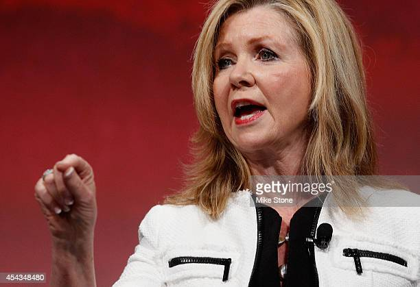 S Congressman Marsha Blackburn speaks at the Defending the American Dream Summit sponsored by Americans For Prospertity at the Omni Hotel on August...