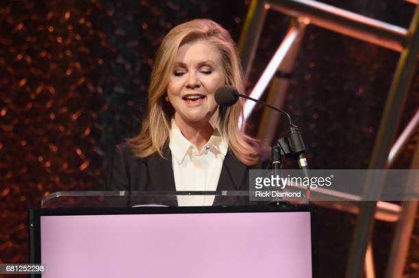 S Congressman Marsha Blackburn speaks on stage at the GMA Honors on May 9 2017 in Nashville Tennessee