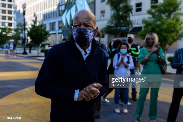Congressman Rep. John Lewis is seen in Black Lives Matter Plaza, in front of the White House, in Washington, D.C. June 7, 2020.