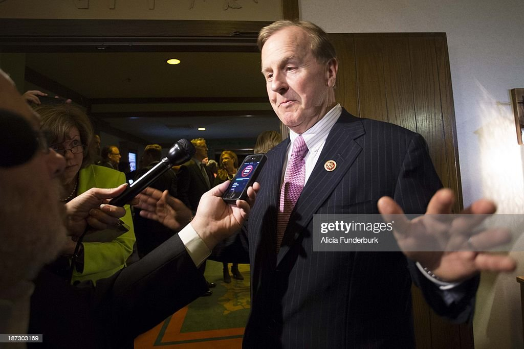 Congressman Robert Pittenger attends the Billy Graham birthday party on November 7, 2013 in Asheville, United States.
