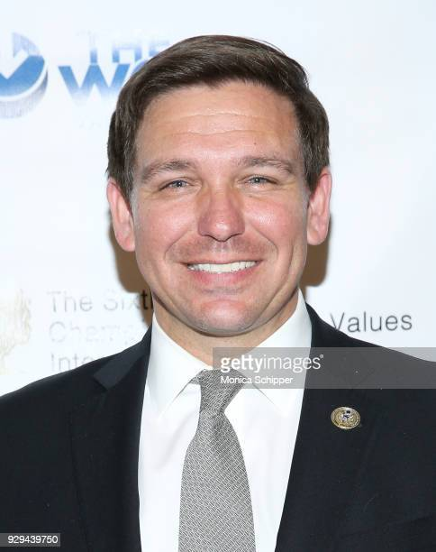 Congressman Ron DeSantis attends the 2018 World Values Network Champions of Jewish Values Awards Gala at The Plaza Hotel on March 8 2018 in New York...